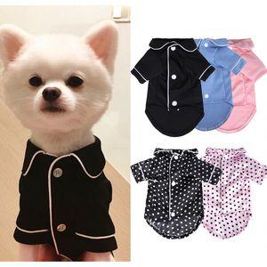 XS-XL PET PET PAJAMAS PAJAMAS DOG ORDE DE INVIERNO Ropa Cat Puppy camisa moda mascota abrigo ropa para perros pequeños Bulldog francés Yorkie Q1224