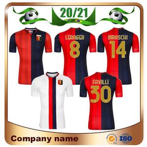 Maillots de football 20/21 Gênes Soccer Jerseys 2021 Home Pinamonti Cassata Favilli Sturaro S Uniformes de chemise de football de Biraschi Lerager