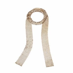 Punk Aluminium Alloy Sequins Long Choker Necklace Neck Collar Necklaces Women Fashion