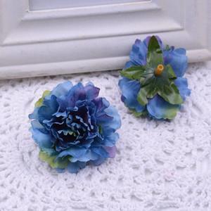 Flores artificiales de la fiesta de Navidad moda de la boda de la sede artificial del clavel Flores volver a casa decoración del ornamento para CCD2070 regalo monther