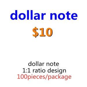 США деньги доллар фильм 10 игрушечная копия реалистичные искусственные детские бумаги играют семья большинство 100 шт. / Пакет банкнот Bangnote ropp 07 GJSMK