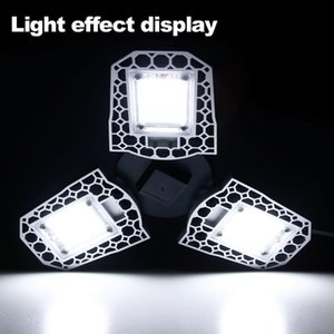 Garagem Luz 100w 80w 60w Led Lamp E27 Led Light Led Bulb Sensor deformáveis Lamp garagem Luz 2pc / Lot, 5pc / Lot