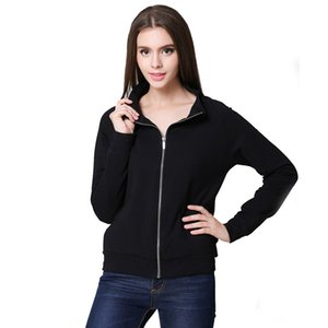 Amazon Express cross-border 2020 autumn winter European and American women's printed women's long-sleeved zip cardigan jacket.