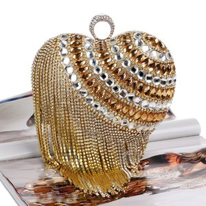 fashion wild new luxury fringed handbags banquet diamond evening bag lady evening bag nightclub