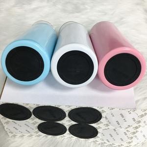 20 oz 30 oz Kendinden yapışkanlı Silikon Kauçuk Coaster tumblers Yuvarlak pastable Kupası Kauçuk Taban ECO Dostu Koruyucu Şişe Tampon Çıkartmaları