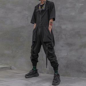 Men's Pants AprilMOMO Tactical Function Overalls Harajuku Hip Hop Ribbons Cargo 2021 Zipper Dark Joggers Mens Trousers Streetwear1