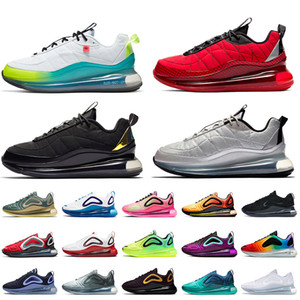 2020 stock x max mx 720-818 sneakers da donna da uomo di lusso Nero Magma Metallic Silver Total Orange University Sneakers da tennis rosse
