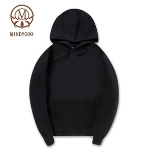 MINDYGOO high quality wholesale OEM custom new design fashion cotton pullover oversize mens women pullover hoodie