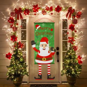 Ev Açık Yılbaşı Dekoru Yılbaşı Banner bayrak hediye Ücretsiz Nakliye için Kapı Banner Süsler Noel Süslemeleri Asma Noeller