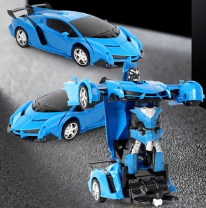 RC Car Modified Robot Sports Car Modelo Robot Toy Toy Remote Control Cool RC Deformation Coche Niño Juguete Regalo Boy