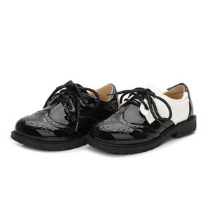 Keaiyouhuo Erkek Siyah Ve Beyaz Deri Ayakkabı 2020 Kış Yeni İngiliz Tarzı Eğlence Gösterisi Tek Ayakkabı Kore Öğrenci Bebek
