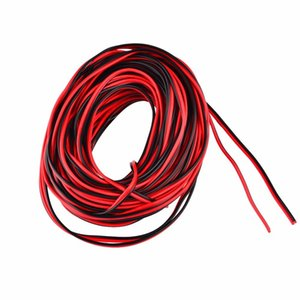 20 meters Electrical Wire Tinned Copper 2 Pin AWG 22 insulated PVC Extension LED Strip Cable Red Black Wire Electric Extend