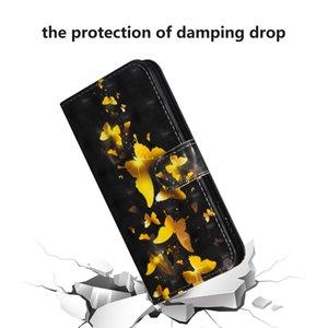 جديد آيفون 11 3D اللوحة نمط أفقي فليب tpu + بو حقيبة جلد مع حامل فتحات بطاقة محفظة الحبل