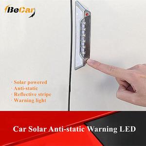 2 Pcs Solar Energy Static Elimination Anti-Collision Light LED Multi-Function Warning Light Static Electricity LED Car