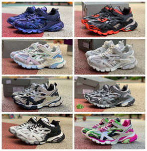 Triple S 2.0 Tess S Sneaker New Colors 2.0 Best Designer Shoes Low Top Lace Up Outdoor Chaussures Luxury Designers Shoes Wholesale