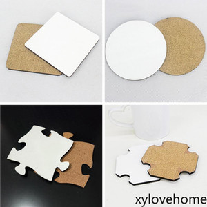 95*95mm Blank Sublimation Coaster 4mm Thick MDF Wooden DIY Gift Cup Mat Customized Desk Decoration Cup Pad for Coffee Mug Water Bottle Tool