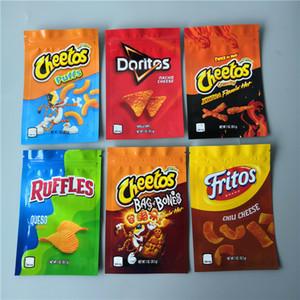 Nuovo arrivo 600mg Cheetos Maylar Bag Doritos Cheese Formaggio Gummi Worm Cheetos Bag di Bone Ruffles ERRLLI confeziona borse da imballaggio
