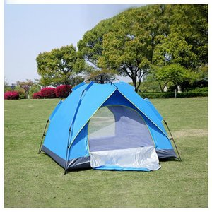 Outdoor Camping Tent 2-3-4 Person Automatic Tent Spring Type Quick Automatic Opening Rainproof Sunscreen Camping