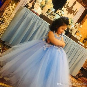 2021 Lovely Flower Girl Dresses Princess Daughter Toddler Pretty Kids Pageant Formal First Holy Communion Gowns