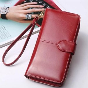 Purse Lady Womens Wallet Wallets Fashion Card Female Purse Coin Brand Long Trifold Credit Hot Leather Sale Solid Purse Women For Exscv