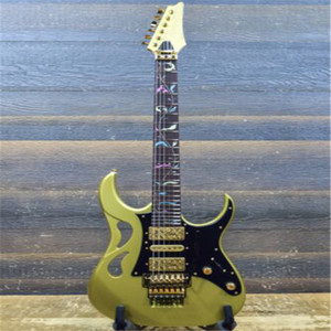 Factory wholesale Custom New arrrival 6 string Ibz PIA3761 Steve Vai Signature Sun Dew Gold Electric Guitar Free shipping