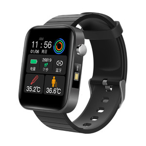 body New intelligent bracelet for measuring temperature, ECG, heart rate, blood pressure, blood oxygen watch, step health monitoring