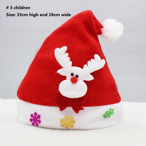 LED Christmas Hat Child Santa Red Accessories Decorations For Holiday Party New Year Supplies Two kinds of style DHL DDE2305