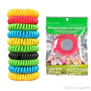 Bonbons couleur Moustique Repllent Bracelet main chaîne extérieure fanshion Anti -Mosquito Wristband outil pour Camping Randonnée plein air gros
