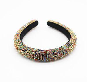 Wholesale Baroque Full Crystal Headbands Hair Bands For Women Lady Shiny Padded Diamond Headband Hair Hoop Fas wmtkyX dh_garden