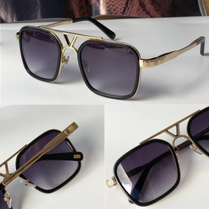 The latest selling popular fashion design sunglasses 0947 square plate frame top quality anti-UV400 lens with box
