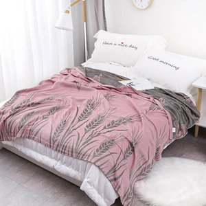 40Cotton Muslin Home Bed Blanket Breathable Throw Quilt For Picnic Travel Baby Comforter1