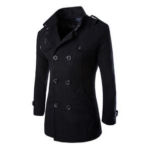URSPORTTECH 가을 겨울 트렌치 코트 남성 브랜드 의류 최고 품질 남성 트렌치 코트 새로운 패션 디자이너 남성 롱 코트 Y200930