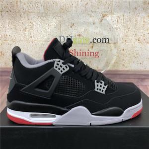Nuevo Mejor Crema Vela Bred Zapatos Unión Off Nior Jumpman 4 de baloncesto del Mens Cemento Cactus Jack White 4S Hombres guayaba Lce Deportes zapatillas de deporte