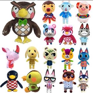 20cm 28cm Animal Crossing Plush Toy Cartoon Raymond free give away 1pcs Amiibo card Stitches Doll KK isabelle plush toys 201212