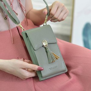 Womens Bag Coin Purse Shoulder Strap Bag PU Leather Wallet Tassel Hasp Wallet Multi Card Holder Messenger Handbag bolsa feminina