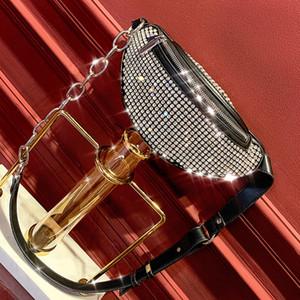 King Diamond se embolsa nueva ola de pequeñas-ins de red de paquetes pecho ck bolso rojo bolsa de mensajero salvaje pequeña minoría de cintura de cuero de pequeñas bolsas