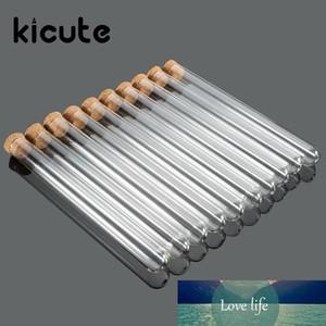بالجملة، Kicute 10PCS / حزمة مختبر الزجاج أنبوب اختبار مع سدادات الفلين 15x150mm اللوازم مختبر مدرسة للتربية