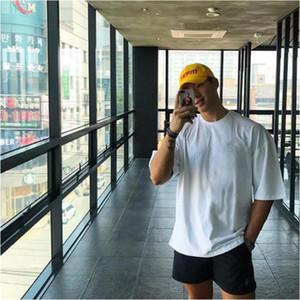Brand Plain Gym Clothing Fitness Mens Oversized T Shirt Outdoor Hip Hop Streetwear Loose Half Sleeve T-shirt Bodybuilding Tshirt