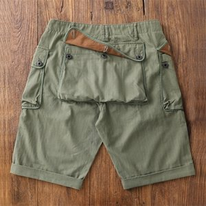 Red Tornado Vintage WW2 P-44 Military Shorts For Men US Army Loose Monkey Green 1022