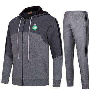 20-21 ASSE Football Club Kinder athletische Männer Fußballjacke Sportbekleidung Sporttraining Outdoor Bekleidung Warm Up Suits