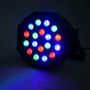 Yeni Tasarım 30 W 18-RGB LED Oto / Ses Kontrolü DMX512 Yüksek Parlaklık Mini Sahne Lambası (AC 110-240 V) Siyah * 2 Parti Hareketli Baş Işıkları