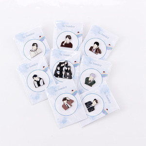 Kpop Brooch JK V Suga RM J-hope JIMIN JIN Pins Badge New Album Metal Badges Accessories Gift for Fans Character Brooches 201009