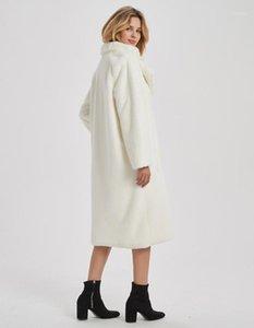 Женский меховой FUX 2021 мода роскошная уличная одежда длинное пальто Женская куртка женский элегантный пальто пальто и куртки для куртки1
