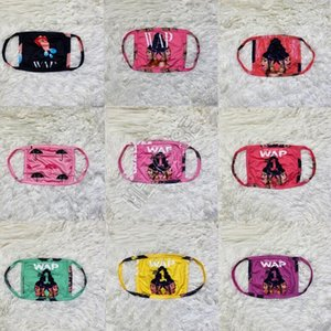 60PCS DHL New Arrival Women WAP Letter Face Mask Dustproof Protective Covers Mouth-muffle Washable Milk Silk Fabric Breathable Masks D102303