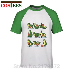 A Flat Karın erkekler Eğitim Avocado için Komik Avokado Yoga Avokado excersies yapar Tees spor Kapşonlu Kazak Hoodie erkekler t shirt Tops pozlar