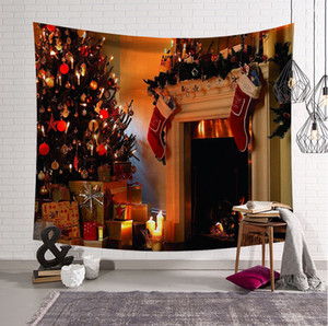 45 styles Christmas Wall Hanging Tapestries Party Decoration Tapestry for Home Decor High Definition Digital Printing 37.4x28.7inch(95X73cm)