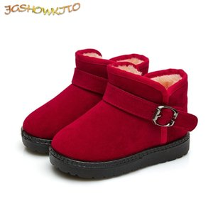 JGSHOWKITO Hot Sale 2020 Kids Boys Winter Girls Rubber Classic Snow Boots For Children Candy Color Warm Cotton LJ201029
