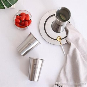 Nordic style stainless steel dinnerware dinner thickened fruit salad shallow dish plate nice kitchen tools free ship DHA1662