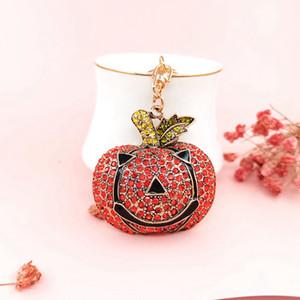 Llavero de Navidad de Santa Claus metal de Halloween calabaza colgante de diamante del monedero del bolso pendientes de la Navidad Llavero GGA3771-5 regalo