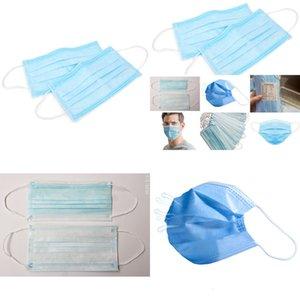 Einwegmaske Mundschicht Ohrschleife Gesichtsmasken Decken 3-lagige Vlies Einwegstaubmaske BREA LJWE